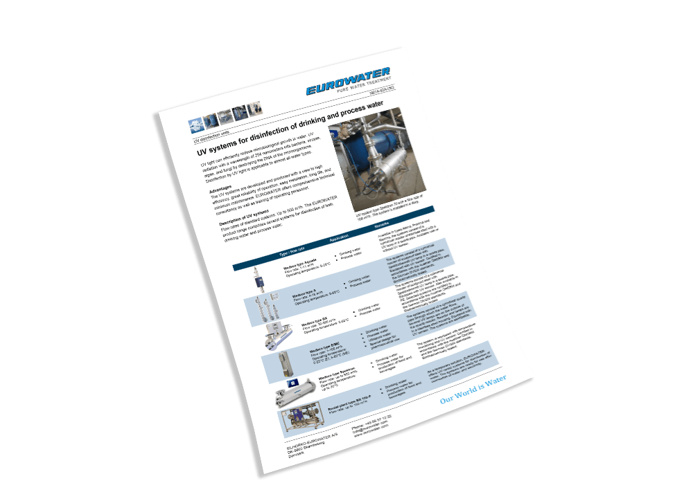 Leaflet on water softening and softening units