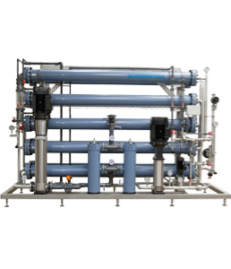 First reverse osmosis unit saving water and energy