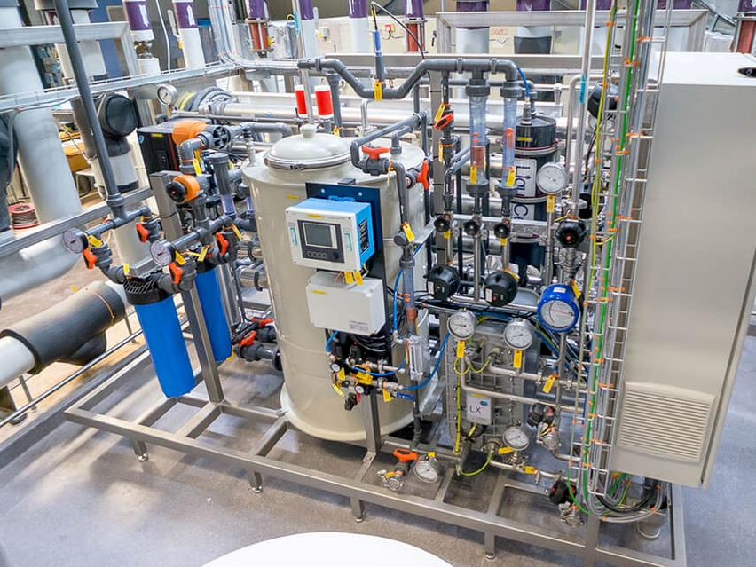 EDI making purified water within pharma industries