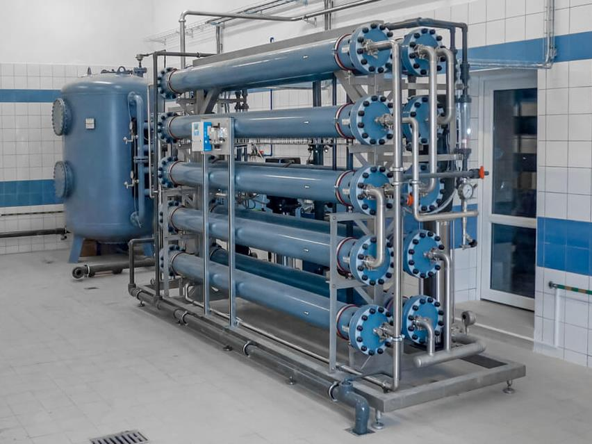 Nanofiltration unit used for process water