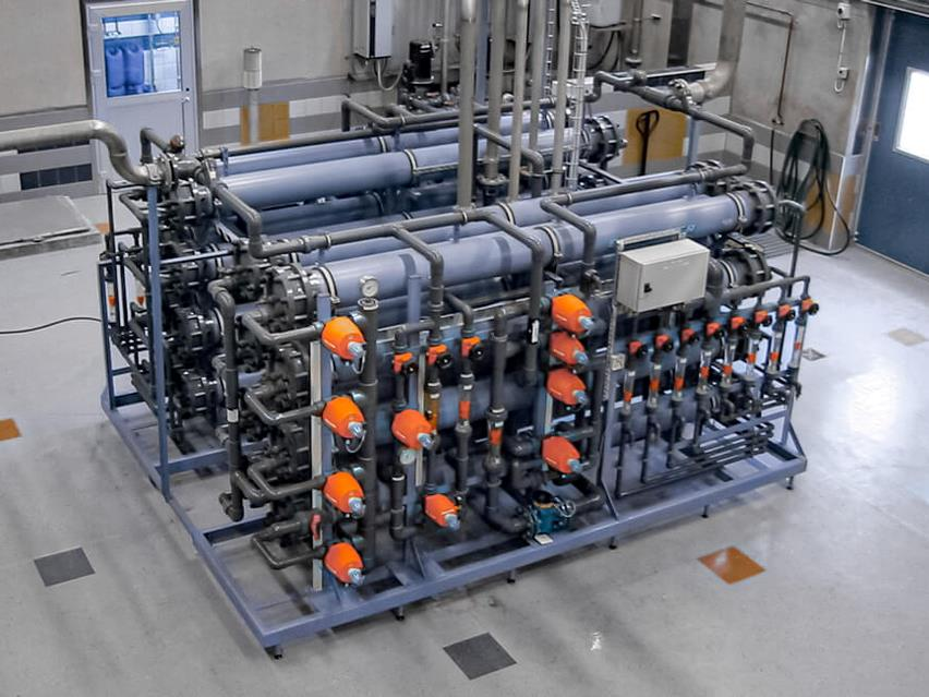Nanofiltration unit used for drinking water