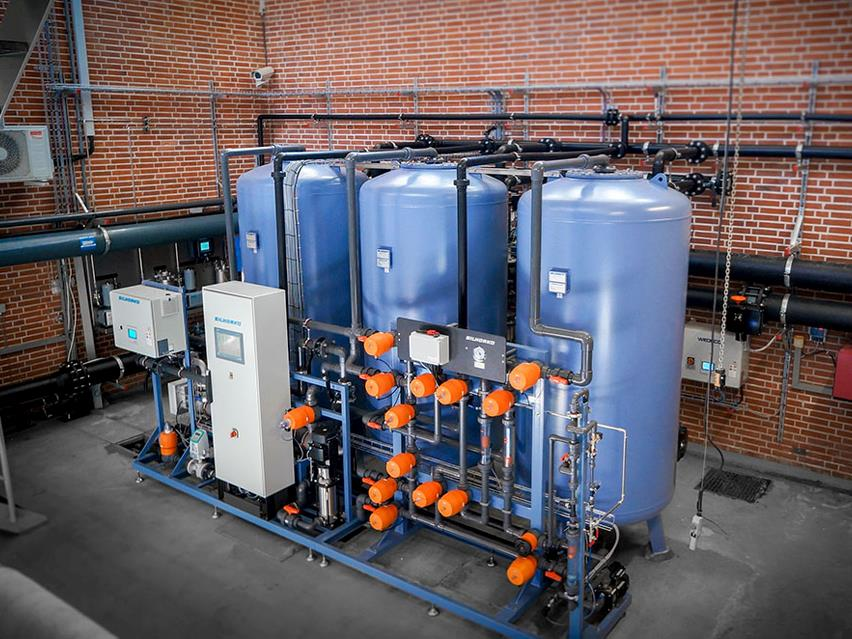 Water softening at waterworks