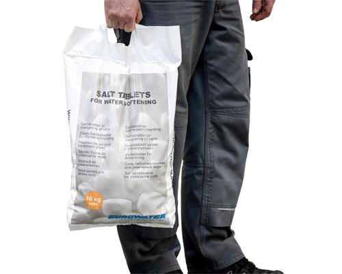 Salt tablets for water softening in 10 kg. bag
