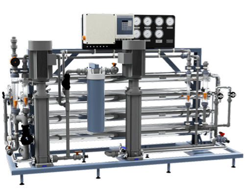 Reverse osmosis double pass unit
