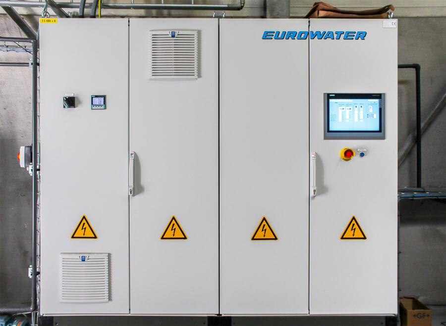 PLC control cabinet from Eurowater