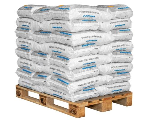 Pallet of salt tablets for water softening
