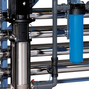 Pressure vessels at reverse osmosis made in stainless steel