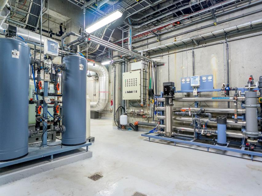 Reverse osmosis used for chemical-free make-up water at power plant