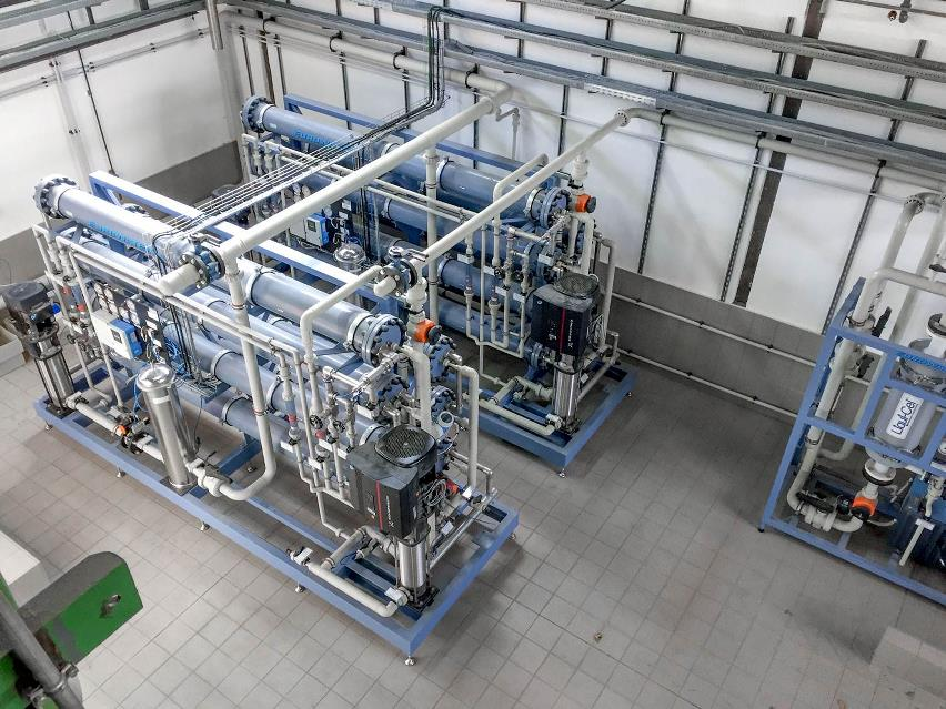 Reverse osmosis used for chemical -free make-up water at power plant