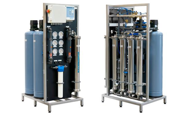 Reverse osmosis compact unit front and back